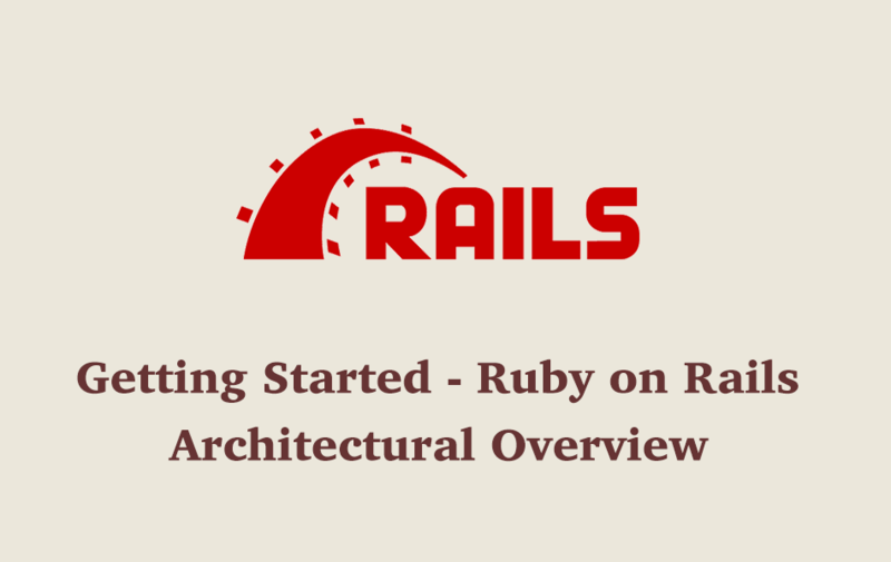 Getting Started - Ruby on Rails - Architectural Overview
