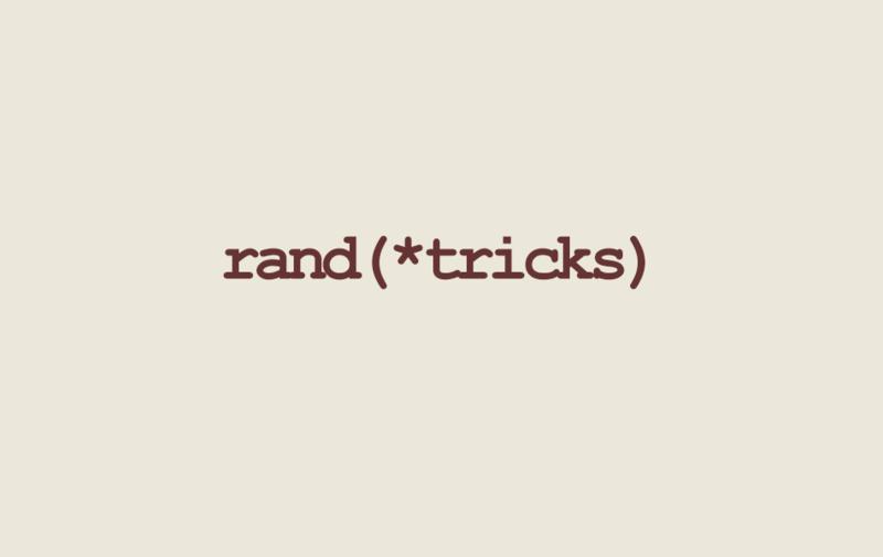 Random Ruby Tips and Tricks
