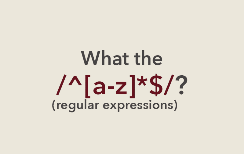 What the RegEx?